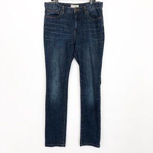 Free People Size 30 Dark Wash Skinny Jeans